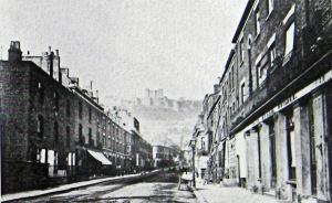 Castle Street c1900 Hills Coach factory right - Bob Hollingsbee Collection