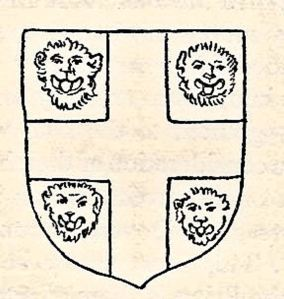 The Arms of Dover Priory - four leopard heads