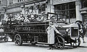 East Kent Bus c1920s of the type made by Palmers at the Cherry Tree Avenue works