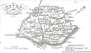 East Kent - showing turnpikes and large Estates 1828