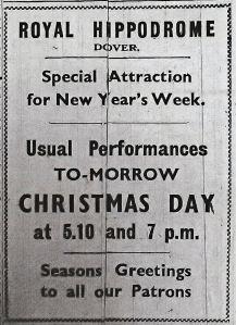 Hippodrome Snargate Street December 1942