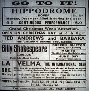 Hippodrome - Ted and Barbara Andrews, Julie Andrews parents were the headliners one week in December 1941