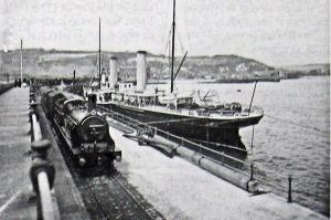 Marie Henrietta the nearest ship along side Admiralty Pier circa 1899. Bob Hollingsbee Collection Dover Museum