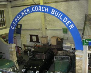 Replica of Palmer's Coach factory distinctive arch that can be seen at the Dover Transport Museum, Old Park