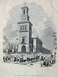 Proposed Town Station - Architects drawing c 1840