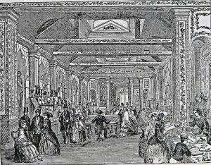 Squiers Bazaar proprietor J D Squiers. Snargate Street to Northampton Street later Wellington Hall.