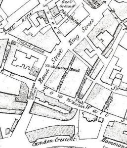 Bench Street showing the location of the Shakespeare Hotel. 1844