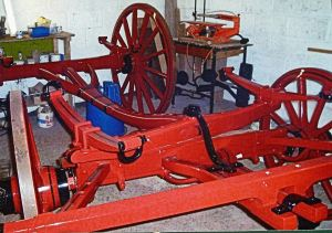 Ackerman Steering of coach during the process of being restored by Tony Newton. Courtesy of Tony Newton
