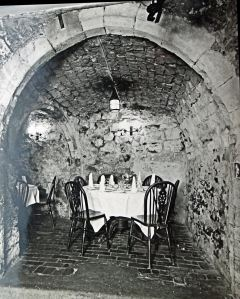 Interior of the Crypt Restaurant, Bench Street circa1960s. Dover Library