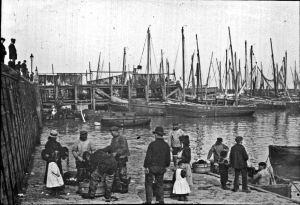 Folkestone harbour circa 1900. Dover Museum