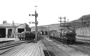 Former Dover Town Station late1920s. Archcliffe Fort on the right. Nick Catford