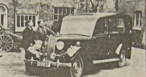 Jenkins & Pain 1949 hearse built for a Brighton Funeral firm. Cutting shows Bert Pain with one of the directors. Dover Mercury 27.07.1990