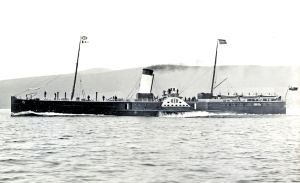 Lord Warden - Paddle Steamer 1890 built by Laird Bros in 1847. Dover Museum