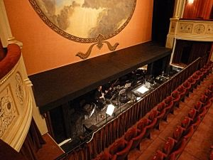 Orchestra Pit of Theatre Royal Bath designed by C J Phipps (1835–1897) who designed the interior of Dover's Royal Hippodrome - Thanks to Theatre Royal Bath