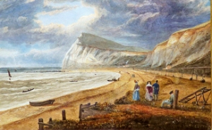 Shakespeare Beach, Dover c1840 by James Patterson Cockburn. Note the lay out of the SER railway track on right. Tom Hutton