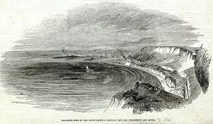 South Eastern Railway line looking towards Folkestone 1846. Dover Museum