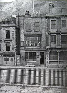 Strond Street, close to Granville dock, 1945, showing war damage. Thanks to David Ryeland