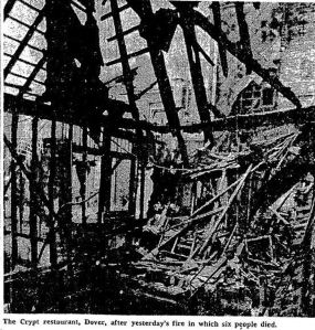 Crypt following the fire. Times 28.03.1977
