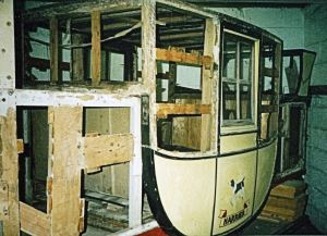 Frame of a coach in the process of being restored. Courtesy of Tony Newton