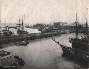 Folkestone Harbour - 19th Century - Courtesy of Folkestone Library
