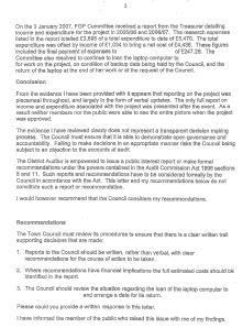 Audit Commission's Report on Dover Town Council 26 July 2007 page 3