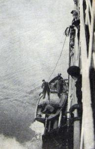 Pilot boarding a ship  c1930. Alan Sencicle Collection