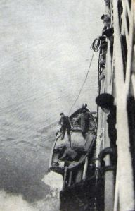 Pilot boarding a ship  c1930. Alan Sencicle Collection
