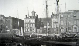 Granville Dock last sailing and first steam pilot cutters. c1898. Dover Museum