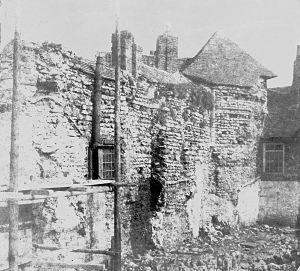 St Martin-le-Grand ruins 1892. Dover Museum