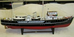 Pilot Cutter model  made by Paul Wissenden 4-foot long working model. Dover Transport Museum