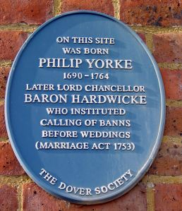 Dover Society Plaque in honour of Philip Yorke, at the corner of Yorke Street with Snargate Street .