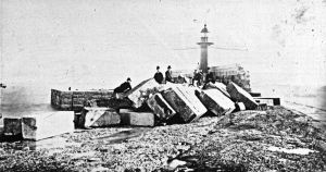 Admiralty Pier construction. Dover Museum