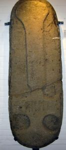 Anglo Saxon Grave Slab found under the foundations of St Peter's Church in 1810 now in Dover Museum. LS 2014