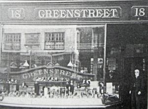 Bootmaker John Greenstreet at the doorway of his shop,18 Bench Street. Thanks to Joe Harman