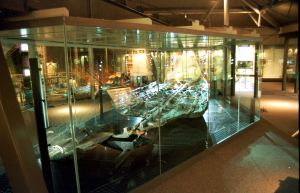 Bronze Age Boat in its own special gallery on the third floor of Dover Museum. pix from Dover Museum
