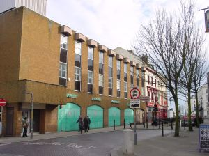 Centurion House Dover Indoor Market Bench Street boarded up as it was for years. AS