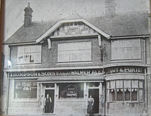 Grapes - circa 1893 , William Gray licensee and his wife at the doors