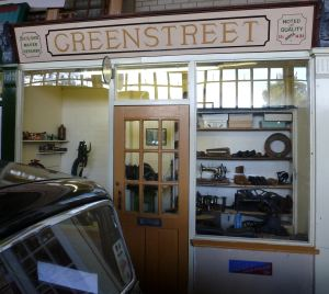 Greenstreet bootmakers shop, Bench Street, mock-up at Dover Transport Museum. AS 2014