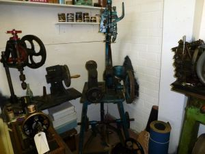 Greenstreet bootmakers shop, Bench Street, mock-up at Dover Transport Museum with authentic bootmaking machines. AS 2014