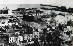 Harbour prior to start of the Harbour of Refuge - Commercial Harbour c1890. Ian Cook