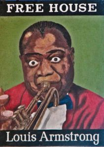 Louis Armstrong pub sign after it became a free House in 1980. Courtesy of Paul Skelton - By the Way www.dover-kent.com