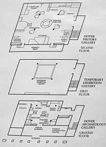 Map showing the lay out of the Museum