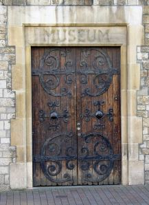 The entrance to the museum on Ladywell when it was housed in the bowels of the Town Hall. AS