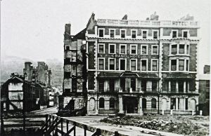 The war battered Grand Hotel before demolition. Courtesy of David G Atwood