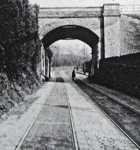 Crabble Road railway bridge prior to 1936 when it was demolished