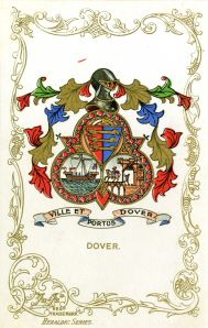 Dover Trefoil shaped Coat of Arms. Dover Museum