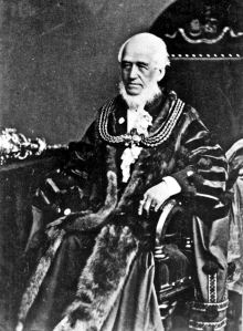 Edward Knocker, Mayor 1870 in the new robe. Dover Museum