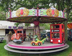 Modern Children's Roundabout - Pencester Gardens. LS 2014