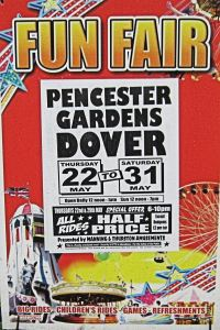 Poster for the Annual Fun Fair in Pencester Gardens. LS 2014