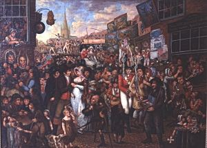 Early 19th century Fair possibly at Sandwich. Painting by Benjamin Robert Haydon (1786-1846) - Dover Museum